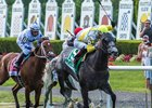 Ascend upsets the Manhattan Stakes under Jose Ortiz