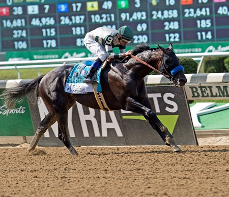 Mor Spirit runs away from the competition in the Metropolitan Handicap