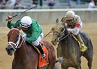 Roy H wins the True North Stakes at Belmont Park