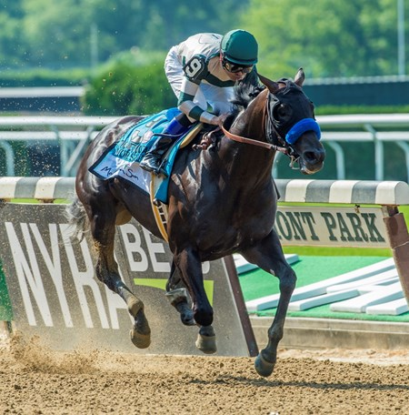 Mor Spirit with Mike Smith wins the 124th running of The Mohegan Sun Metropolitan June 10, 2017 at Belmont Park in Elmont, N.Y.