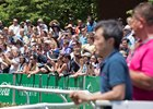 A crowd of 57,729 turned out for the Belmont Stakes June 10 at Belmont Park
