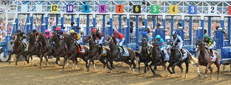 Start of the 2017 Belmont Stakes