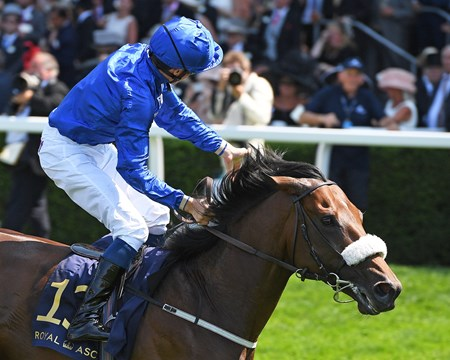 Ribchester, Wiliam Buick, win the Group 1 Queen Anne Stakes, Royal Ascot, Ascot, UK 6/20/17