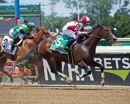 Songbird wins the Ogden Phipps (G1) at Belmont Park