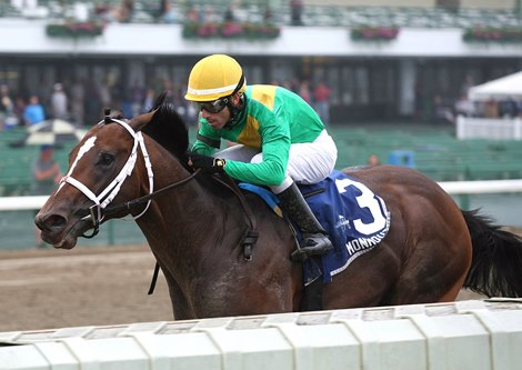 Classy Class Stretches Out Takes Salvator Mile Bloodhorse