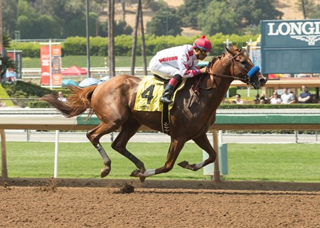 Speedway Stable's Collected and jockey Martin Garcia win the Grade III, $100,000 Precisionist Stakes, Saturday, June 24, 2017 at Santa Anita Park, Arcadia CA.