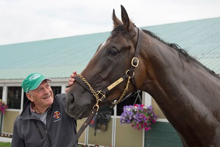 Trainer Roger Attfield with Tiz a Slam