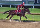Classic Empire works at Churchill Downs June 2 with Martin Rivera up