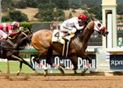 Big Macher wins the Thor's Echo Handicap at Santa Anita last month