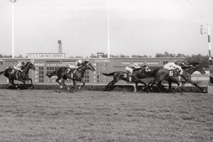 Dr. Fager, under 134 pounds and on turf for the first time, guts out a victory in the 1968 United Nations Handicap