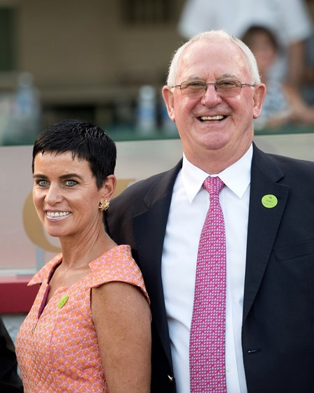 Always Dreaming co-breeder Mike Ryan with his wife Mary