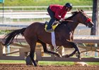 Keane training at Santa Anita Park