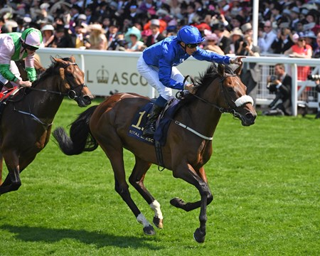 Ribchester, William Buick, win the Group 1 Queen Anne Stakes, Royal Ascot, Ascot, UK 6/20/17