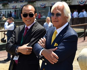 China Horse Club founder and chairman Teo Ah Khing (left) with Hall of Fame trainer Bob Baffert