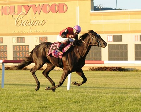 Frostmourne comes home strong to take the Penn Mile