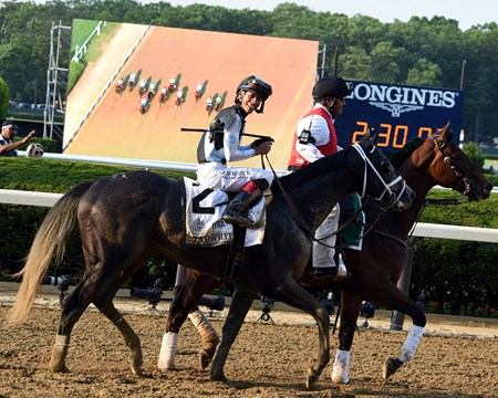 Tapwrit, Jose Ortiz up, 2017 Belmont Stakes