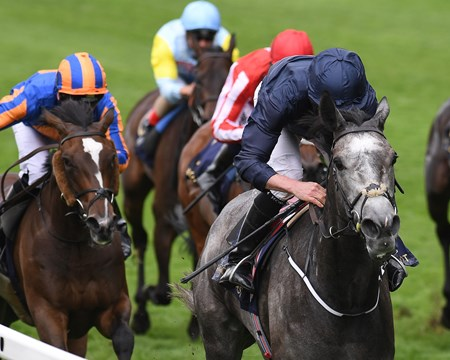 WInter, Ryan Moore up win the Group 1 Coronation Stakes, Royal Ascot, Ascot, UK