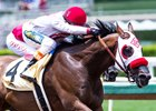 Big Macher rolls to victory in the Thor's Echo June 11 at Santa Anita