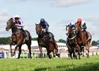 Wings of Eagles wins the Investec Derby under Padraig Beggy (pink cap)