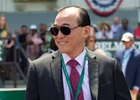 Teo Ah Khing during the Acorn Stakes at Belmont Park in June