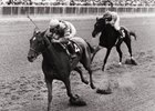 Shuvee wins the 1969 Coaching Club American Oaks, completing a Filly Triple Crown