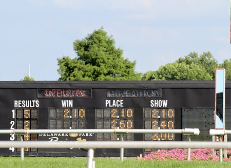 Songbird pays $2.10 to win, place, and show at Delaware Park on July 15, 2017 after winning the Delaware Handicap (GI).