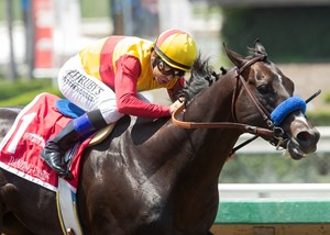 Danzing Candy wins the San Carlos Stakes