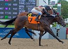 Eskiminzin (outside) wins on debut at Woodbine by a neck July 9