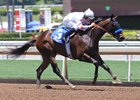Diamondsandpearls wins her debut July 2 at Santa Anita