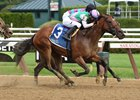 Paulassilverlining wins the Honorable Miss Handicap July 26 at Saratoga Race Course