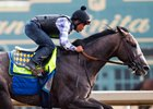 Arrogate works at Santa Anita July 2