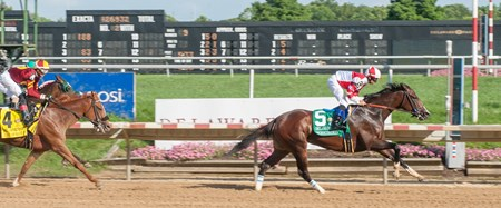 Songbird wins the Delaware Park Handicap on 7/15/2017