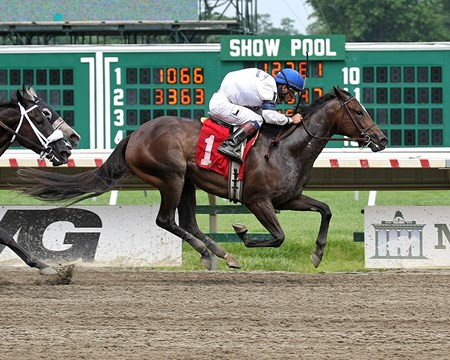Brexit Revenge #1 with Kevin Mendez riding won the 6th race at Monmouth Park in Oceanport, N.J. on 7/15/17.  