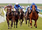 Roly Poly (inside) powers home over Wuheida to take the Falmouth Stakes