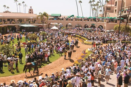 The Del Mar paddock will be packed for the Pacific Classic Aug. 19