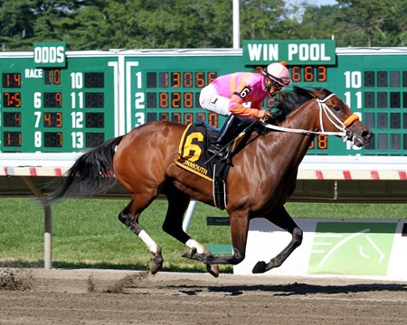 Money'soncharlotte wins the Molly Pitcher Stakes at Monmouth Park July 30