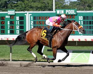 Money'soncharlotte wins the Molly Pitcher Stakes (G3) at Monmouth Park July 30