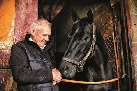 Hall of Fame trainer King Leatherbury and Ben's Cat Friday
