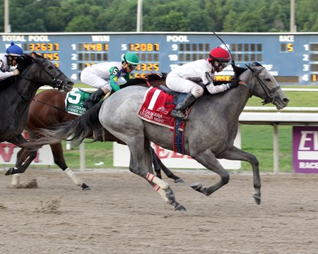 P Boo wins the 2017 Louisiana Legends Soiree Stakes