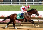 Songbird wins the Delaware Handicap at Delaware Park July 15