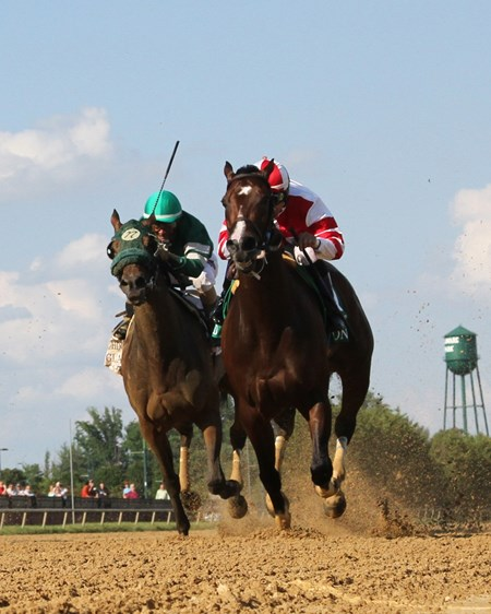 Songbird with Mike Smith win the Delaware Handicap (GI) at Delaware Park on July 15, 2017 over Martini Glass with Jose Ferrer.