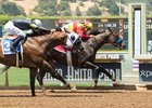 Danzing Candy edges Ransom the Moon in the San Carlos Stakes