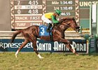 Om cruises to victory in the Twilight Derby Oct. 24 at Santa Anita Park.