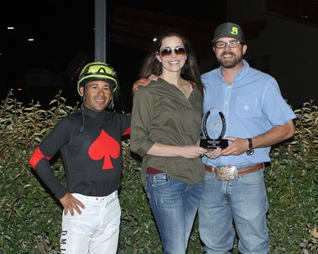 Redneck Humor wins the 2017 Budweiser Special Stakes