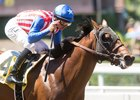 Run Away wins the Santa Anita Juvenile Stakes July 3 to remain unbeaten in two starts