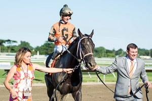 Girvin after his Haskell victory July 30 at Monmouth Park