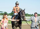 Girvin after winning the Haskell