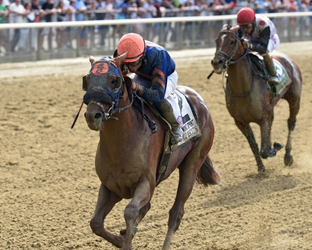Mind Your Biscuits wins the 2017 Belmont Sprint Championship