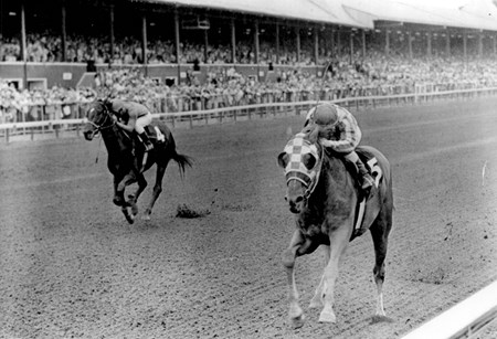Secretariat wins the 1972 Sanford Stakes