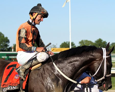 Girvin after winning the July 30 Haskell Invitational Stakes